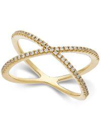 Arabella | Yellow Swarovski Zirconia X-ring In 14k Gold | Lyst