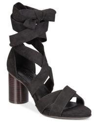 Kenneth Cole Reaction - Black Women's Rita Lita Block-heel Dress Sandals - Lyst
