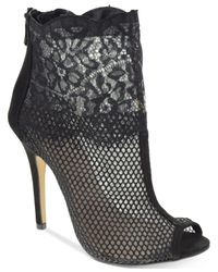 Chinese Laundry | Black Jeopardy Mesh Lace Booties | Lyst