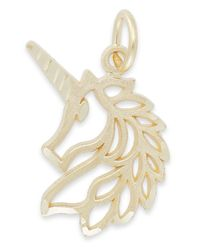 Macy's | Metallic Unicorn Head Charm In 14k Gold | Lyst
