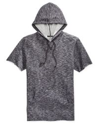 American Rag | Gray Men's Marled Short-sleeve Hoodie for Men | Lyst