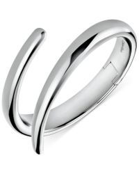 Calvin Klein - Metallic Embrace Bypass Hinge Medium Bangle Bracelet - Lyst