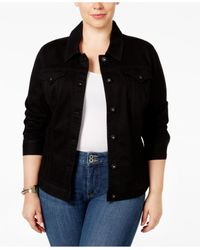 Style & Co. | Black Plus Size Denim Jacket, Only At Macy's | Lyst