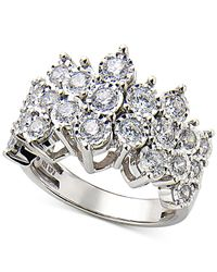 Macy's - Metallic Diamond Cluster Ring In Sterling Silver (1 Ct. T.w.) - Lyst