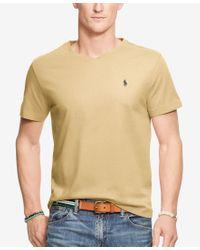 Polo Ralph Lauren - Natural Men's Jersey V-neck T-shirt for Men - Lyst
