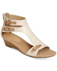 Aerosoles | Multicolor Yet Another T-strap Wedge Sandals | Lyst