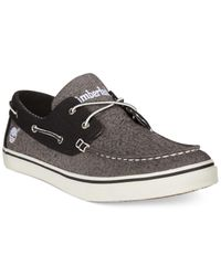 Timberland   Gray Newmarket Boat Shoes for Men   Lyst