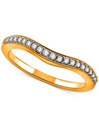 Macy's - Metallic Diamond Contour Band In 14k Gold (1/4 Ct. T.w.) - Lyst