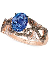 Le Vian | Blue Tanzanite (1 Ct. T.w.) And Diamond (5/8 Ct. T.w.) Ring In 14k Rose Gold | Lyst