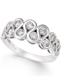 Sirena | Metallic Diamond Double-row Ring (3/4 Ct. T.w.) In 14k White Gold | Lyst