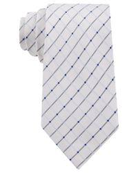 Geoffrey Beene - White City Grid Tie for Men - Lyst
