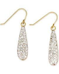 Macy's - Metallic Crystal Drop Earrings In 10k Gold - Lyst