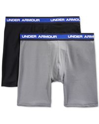 Under Armour   Gray Performance Mesh Boxer Briefs 2-pack for Men   Lyst