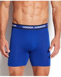 Under Armour - Blue Performance Mesh Boxer Briefs 2-pack for Men - Lyst