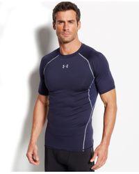 Under Armour | Blue Men's Heatgear Armour T-shirt for Men | Lyst