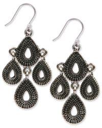 Lucky Brand - Metallic Silver-tone Chandelier Earrings - Lyst