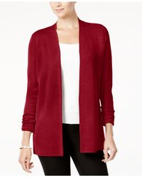 Charter Club - Red Open-front Cardigan - Lyst