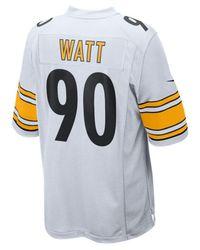 wholesale dealer 5c231 95396 Lyst - Nike T.j. Watt Pittsburgh Steelers Game Jersey for Men
