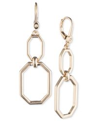 Ivanka Trump - Metallic Open Geometric Double-drop Earrings - Lyst
