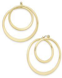 INC International Concepts - Metallic Gold-tone Spiral Hoop Earrings - Lyst