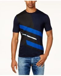 Sean John | Blue Men's Colorblocked T-shirt for Men | Lyst