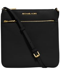 Michael Kors - Black Riley Small Flat Cross-body Bag - Lyst