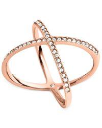Michael Kors - Pink Circle X Ring - Lyst