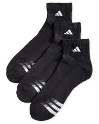 Adidas Originals   Black Men's Cushion Performance Quarter Socks 3-pack for Men   Lyst