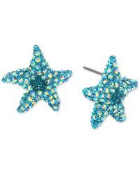 Betsey Johnson - Blue Pavé Starfish Stud Earrings - Lyst