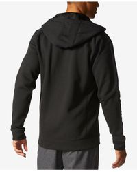 Adidas Originals - Black Cotton Fleece Hoodie for Men - Lyst