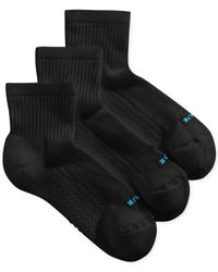 Hue | Black Women's Air Cushion Mini Crew 3 Pack Socks | Lyst