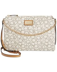 Calvin Klein | Natural Hudson Monogram Crossbody | Lyst