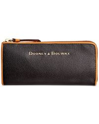 Dooney & Bourke - Black Claremont Zip Clutch - Lyst