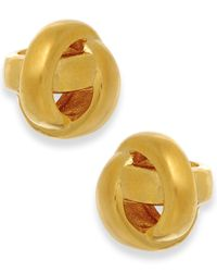 kate spade new york | Metallic Gold-tone Knot Stud Earrings | Lyst