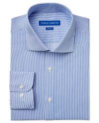 Vince Camuto | Blue Slim-fit Pinstripe Dress Shirt for Men | Lyst