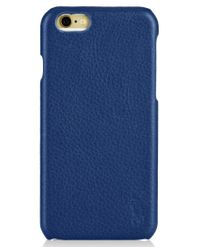 Polo Ralph Lauren | Blue Pebbled Leather Iphone Case for Men | Lyst