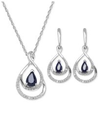 Macy's | Multicolor Sapphire (1-2/3 Ct. T.w.) And Diamond Accent Jewelry Set In Sterling Silver | Lyst