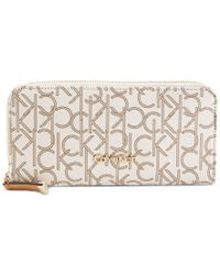 Calvin Klein - Natural Monogram Wallet - Lyst