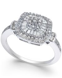 Macy's | Metallic Diamond Vintage-inspired Engagement Ring (1/2 Ct. T.w.) In 14k White Gold | Lyst