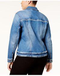 INC International Concepts - Blue Plus Size Embellished Denim Jacket - Lyst
