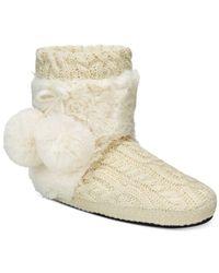 Muk Luks - White Women's Coralee Boot Slippers - Lyst