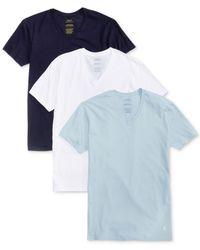 Polo Ralph Lauren | Blue Polo By Ralph Lauren Classic Cotton V-neck, 3-pack for Men | Lyst