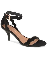 Chinese Laundry | Black Rosie Two-piece Scalloped Dress Sandals | Lyst