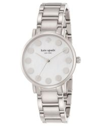 kate spade new york | Metallic Women's Gramercy Dot Stainless Steel Bracelet Watch 34mm 1yru0736 | Lyst
