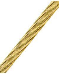 Macy's | Metallic Woven Mesh Bracelet In 14k Gold | Lyst