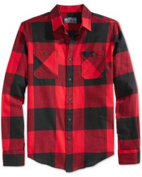 American Rag   Red Men's Buffalo Plaid Flannel Shirt, Only At Macy's for Men   Lyst