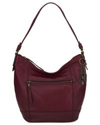 The Sak | Red Sequoia Leather Hobo | Lyst