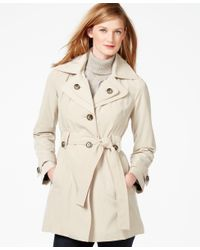 London Fog | Natural Layered-collar Belted Trench Coat | Lyst