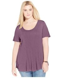 American Rag | Purple Trendy Plus Size Seamed Swing Top, Only At Macy's | Lyst