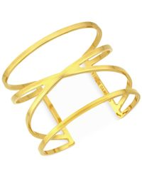 Vince Camuto | Metallic Gold-tone Cut-out Cuff Bracelet | Lyst